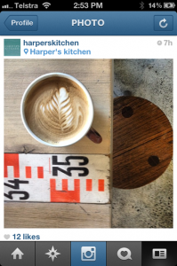 YOU CAN NOW FOLLOW US ON INSTAGRAM @harperskitchen